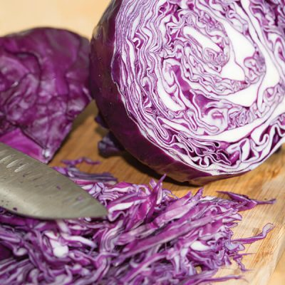 Martin Riendeau Gardens | Photo of a partially cut red cabbage